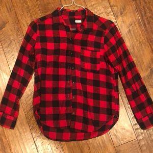 Hollister Red & Black Flannel